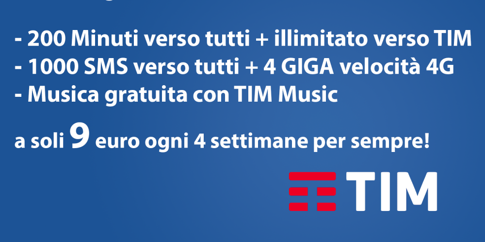 TIM Young XL Powered New – 9 euro per sempre!